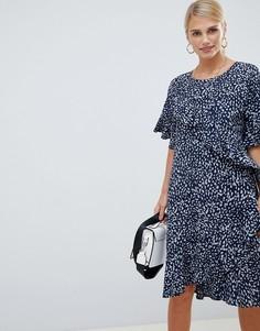 Платье с принтом и оборками Vila - Мульти