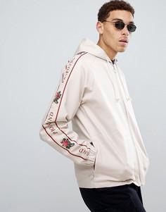 Кремовая спортивная куртка с отделкой лентой Profound Aesthetic - Кремовый