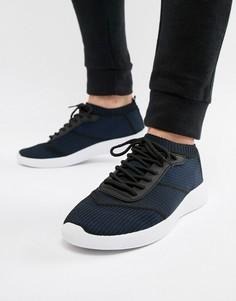 Темно-синие кроссовки на шнуровке ASOS DESIGN - Темно-синий