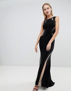 Платье макси со вставками Forever Unique Dramatic - Черный