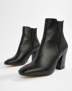 Кожаные ботинки челси ASOS DESIGN Evita - Черный
