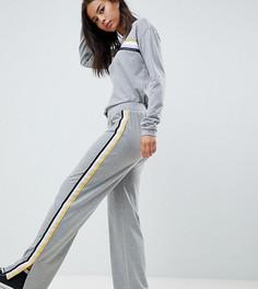 Широкие спортивные брюки с полосой сбоку Noisy May Tall - Серый