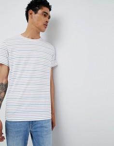 Кремовая футболка в тонкую полоску Esprit - Белый