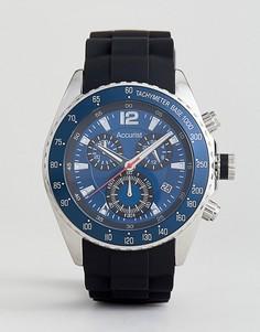 Черные часы с хронографом и силиконовым ремешком Accurist - Черный