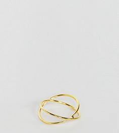Кольцо из позолоченного серебра с крестом Kingsley Ryan - Золотой