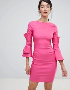 Платье-футляр с бантиками на рукавах Vesper - Розовый