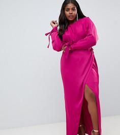 Платье макси с рукавами летучая мышь ASOS DESIGN Curve - Красный