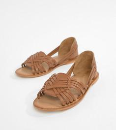 Кожаные сандалии для широкой стопы ASOS DESIGN - Рыжий