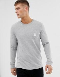Лонгслив с логотипом на кармане Esprit - Серый