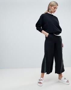 Широкие брюки с контрастными вставками Native Youth - Черный