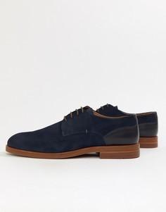 Темно-синие замшевые туфли дерби H By Hudson Anterim - Темно-синий