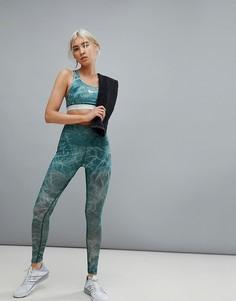 Сетчатые леггинсы мятного цвета Nike Training - Синий