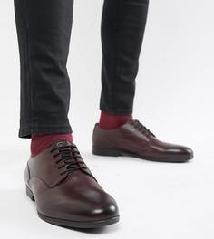 Кожаные строгие туфли для широкой стопы H By Hudson Axminster - Красный