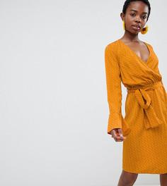 Платье с запахом в горошек Vero Moda Petite - Мульти