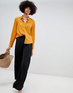 Широкие брюки с эластичным поясом Vero Moda - Черный