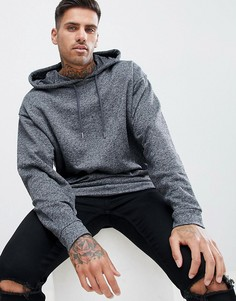Oversize-худи темно-серого цвета ASOS DESIGN - Серый