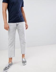 Голубые укороченные джинсы Dr Denim otis - Серый