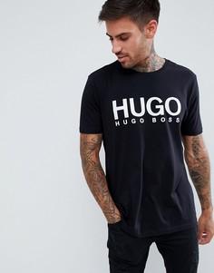 Черная футболка с логотипом HUGO - Черный