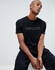 Черная футболка с принтом ASOS DESIGN - Белый