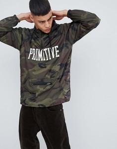 Куртка с камуфляжным принтом и молнией 1/4 Primitive Skateboarding - Зеленый