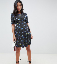 Короткое приталенное чайное платье с цветочным принтом ASOS DESIGN Maternity - Мульти