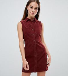 Вельветовое платье без рукавов Boohoo Petite - Красный