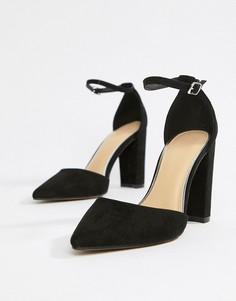 Туфли на каблуке с острым носом Pimkie - Черный