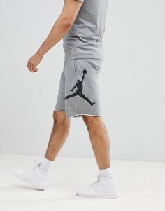 Серые флисовые шорты Nike Jordan Air AQ3115-091 - Серый