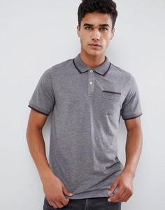 Поло с карманом и отделкой на воротнике Jack & Jones Premium - Серый