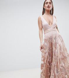 Платье макси для выпускного с пайетками A Star is Born Petite - Розовый