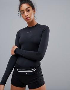 Черное боди Nike Run Division - Черный