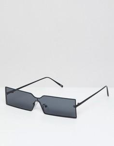 Узкие прямоугольные солнцезащитные очки ASOS DESIGN - Черный