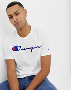 Футболка с крупным логотипом Champion - Белый
