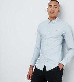 Синяя оксфордская рубашка узкого кроя Farah Sanfers - Синий