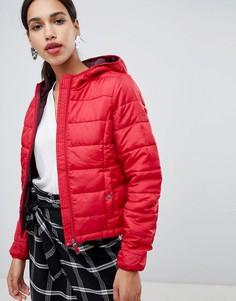 Укороченная дутая куртка с капюшоном Vero Moda - Красный