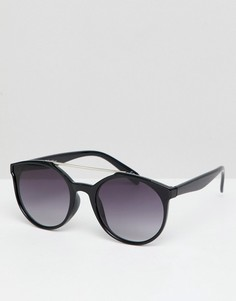 Круглые солнцезащитные очки в черной оправе Jeepers Peepers - Черный