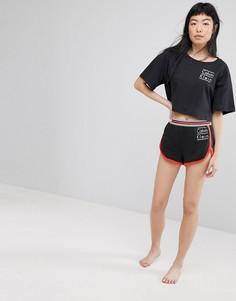 Хлопковые шорты для сна Calvin Klein - Черный