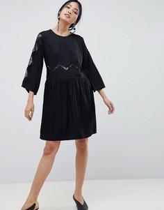 Платье с кружевными вставками Gestuz Anne - Черный