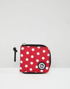 Красный кошелек в горошек на молнии Hype - Красный