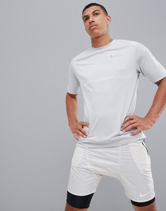 Серая футболка Nike Running Medalist 891426-101 - Серый