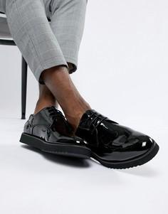 Лакированные ботинки на шнуровке Truffle Collection - Черный