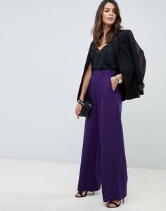 Широкие брюки с защипами ASOS DESIGN - Фиолетовый