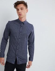 Зауженная меланжевая рубашка Tokyo Laundry - Темно-синий
