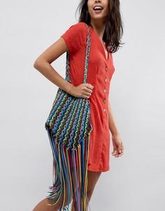 Цветная сумка с кисточками ASOS DESIGN - Мульти