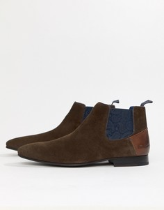 Коричневые замшевые ботинки челси Ted Baker - Коричневый