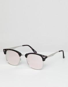 Очки в черепаховой оправе с розовыми зеркальными стеклами ASOS DESIGN - Розовый