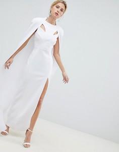 Платье макси с кейпом ASOS DESIGN Рremium - Белый