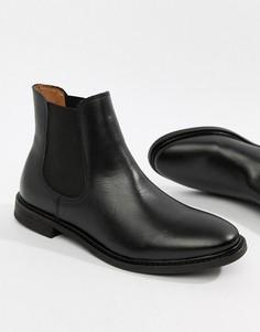 Кожаные ботинки челси Selected Femme - Черный