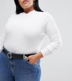 Ремень для джинсов из полиуретана на водной основе ASOS DESIGN Curve - Черный