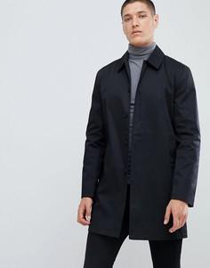 Черный однобортный макинтош из хлопка New Look - Черный